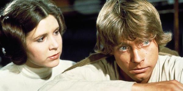 Luke Skywalker and Leia Organa in Star Wars
