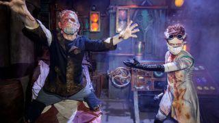Frankenstein and Bride of Frankenstein at Universal Horror Nights Hollywood