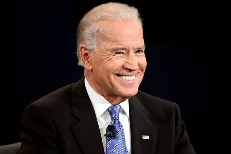 U.S. President Joe Biden smiles during the vice presidential debate at Centre College October 11, 2012 in Danville, Kentucky.