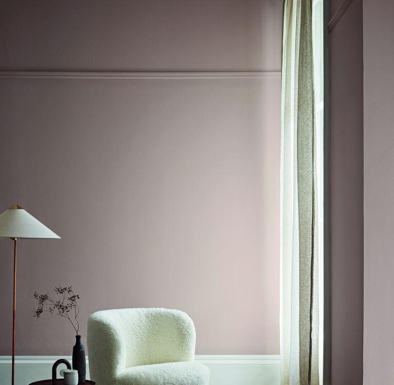 Crown Paints pink walls