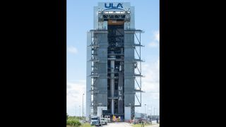 Boeing's Starliner capsule atop ULA's Atlas V rocket ready for its second unmanned test flight to the International Space Station.