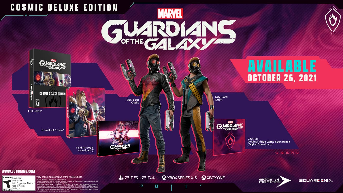 Marvel's Guardians of the Galaxy Pre-order bonus