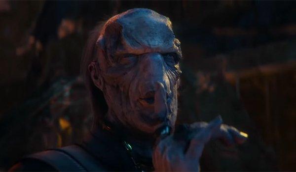 Ebony Maw telling Doctor Strange to quiet his screams