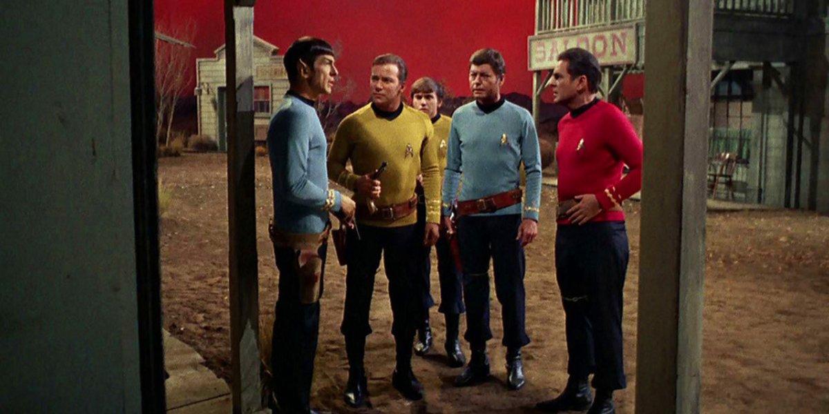 A western-style scene from Star Trek