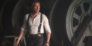 No Time To Die Daniel Craig dressed down in a mechanical room