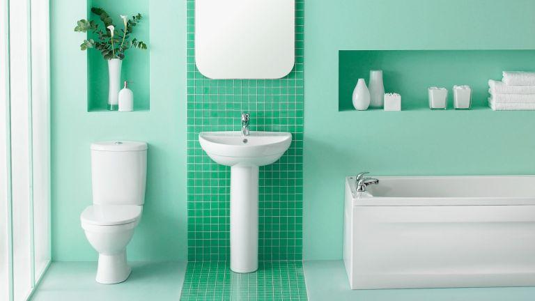 bright clean toilet