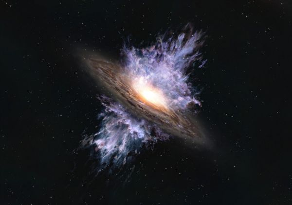 Scientists spot earliest-known supermassive black hole 'storm'