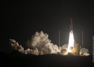 Ariane 5 Rocket Blasts Off, Oct. 16, 2014