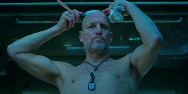 Woody Harrelson shaving his head