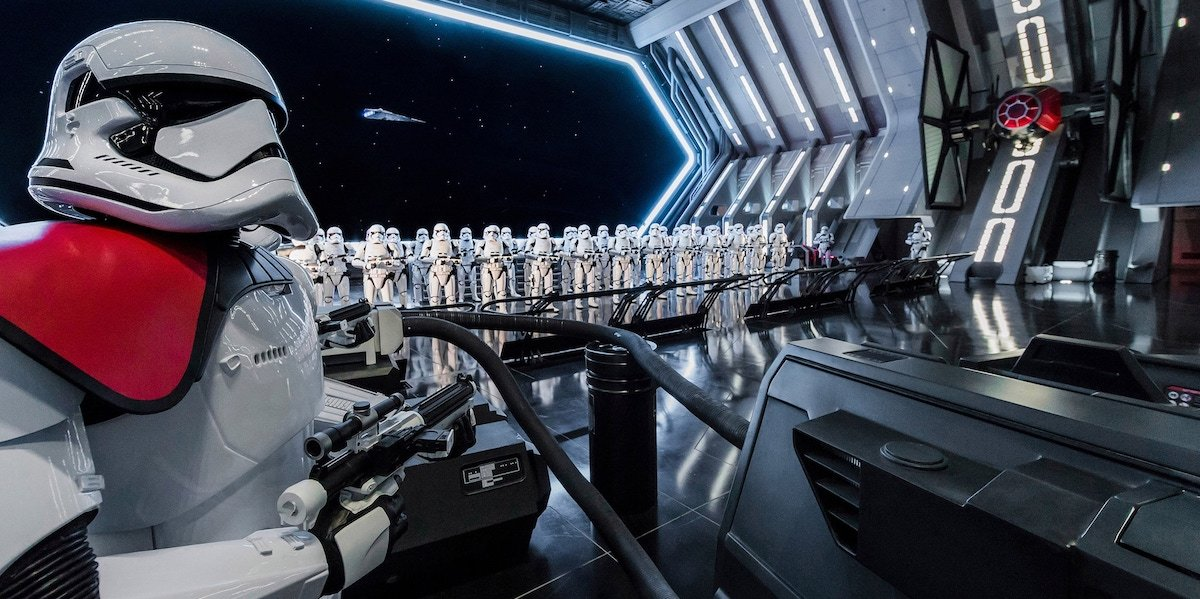 Rise of Resistance ride, stormtroopers, Disneyland, California