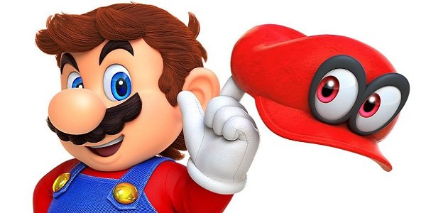 Mario and Cappy from Super Mario Odyssey.