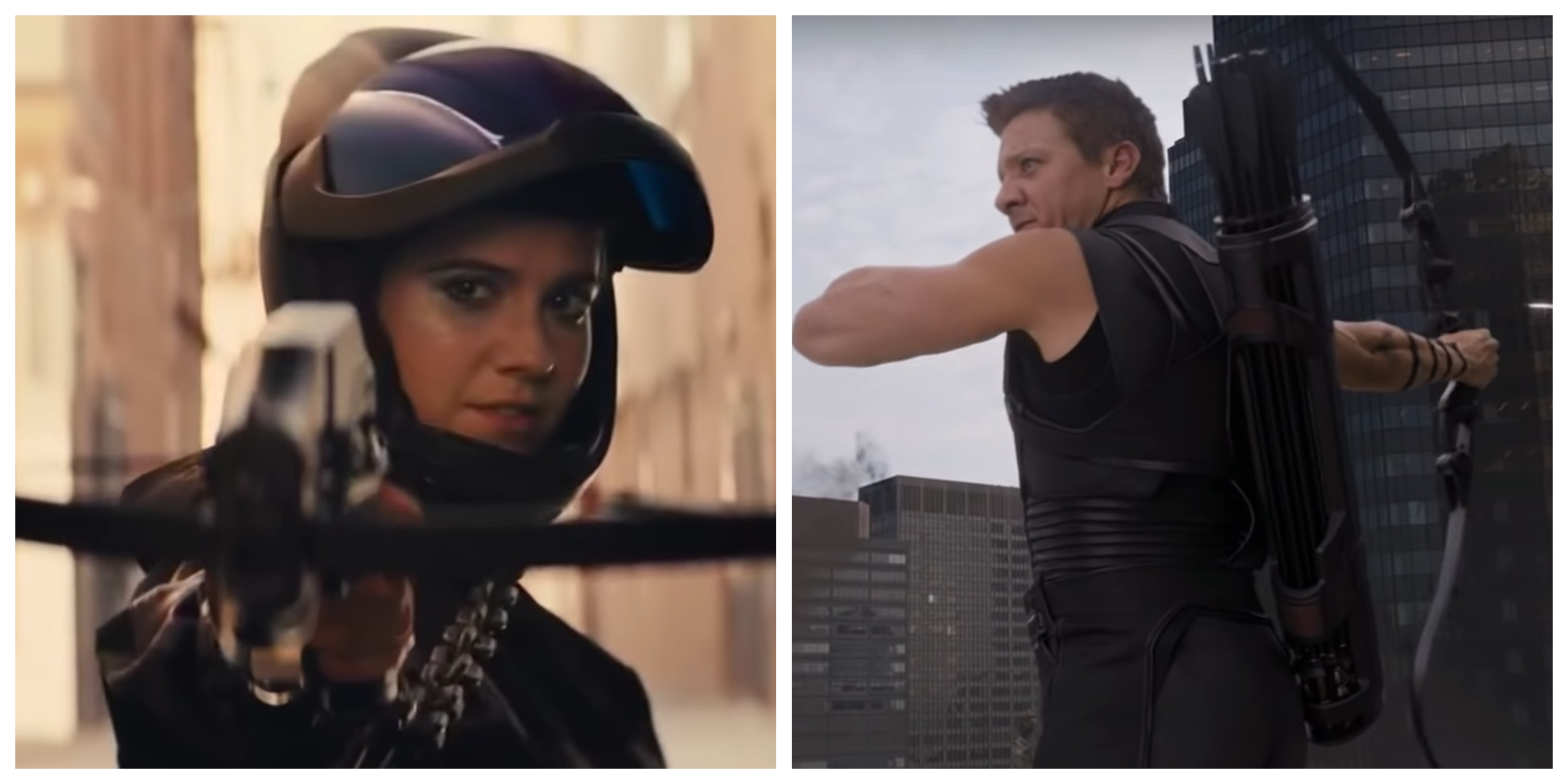 Mary Elizabeth Winstead in Birds Of Prey and Jeremy Renner in The Avengers