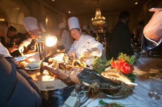 Alligator at the Explorer's Club Annual Dinner
