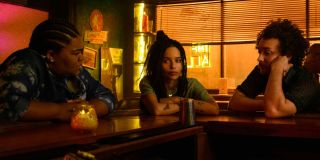 High Fidelity Zoe Kravitz and friends sitting at the bar