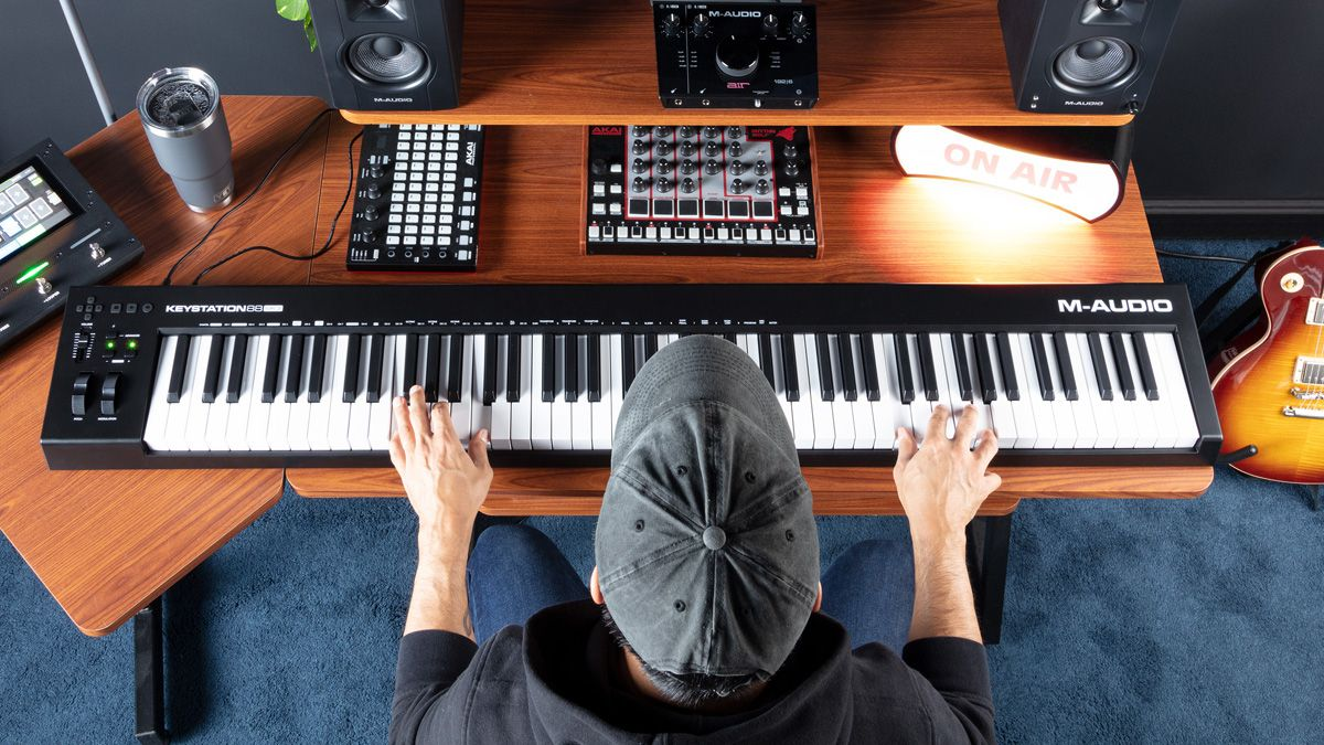 M-Audio's KeyStation 88 MK3 is a full-size MIDI keyboard with a small price tag