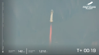 Blue Origin made history when four passengers, including Jeff Bezos, lifted off and made it to space aboard New Shepard.