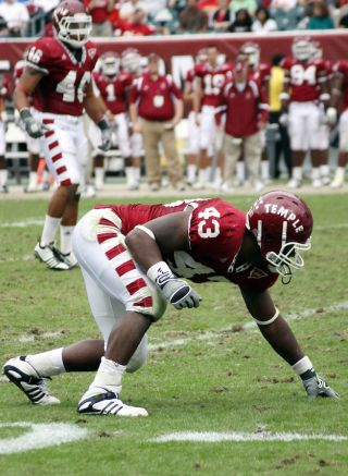 adrian robinson playing for temple university