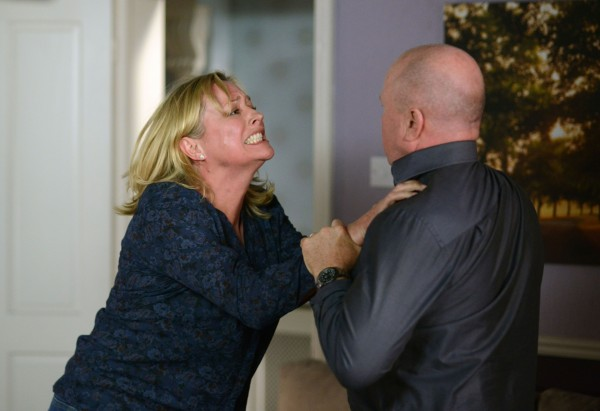 Jane Beale and Phil Mitchell in EastEnders