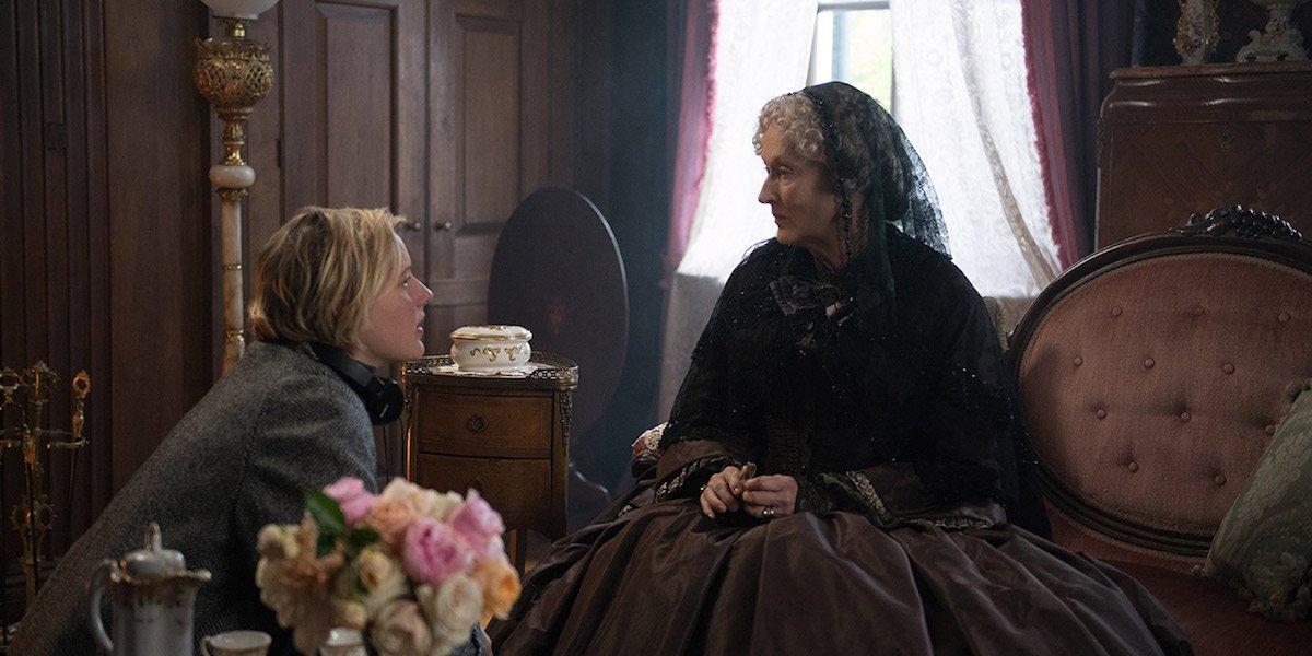 Greta Gerwig directing Meryl Streep
