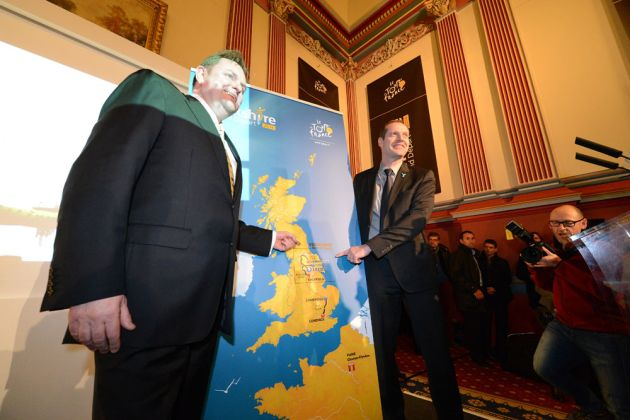 Map, Tour de France 2014 Grand Depart launch