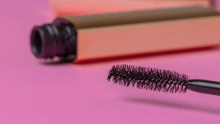 Mascara tube with wand out