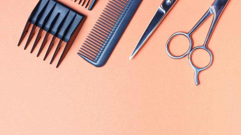 Selection of hairdressing tools