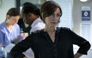 Casualty star Amanda Mealing as Connie. The ED is in chaos putting lives at risk
