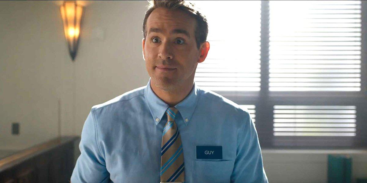 Ryan Reynolds smiles as Guy in Free Guy