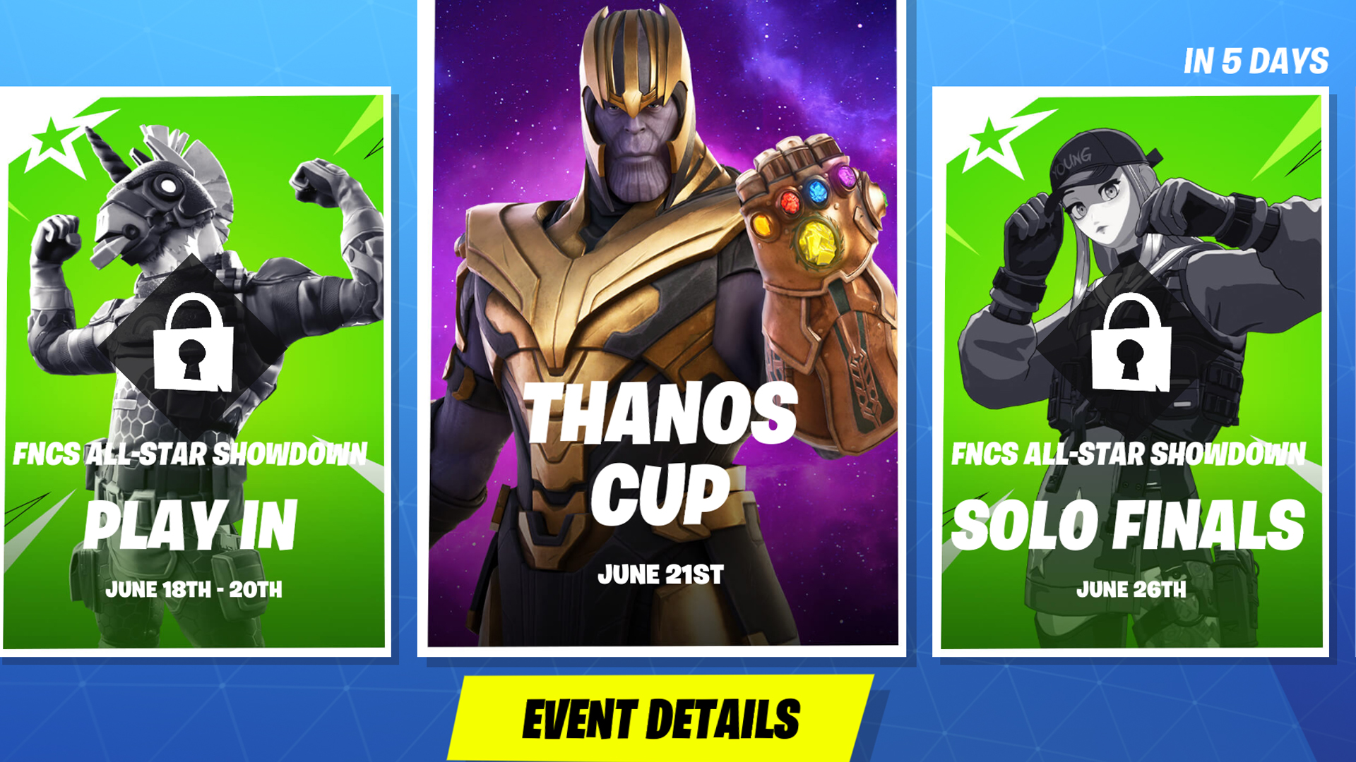 When Is The Fortnite Tournament Tomorrow When Is The Fortnite Thanos Cup Event Date Rules And How To Participate Gamesradar