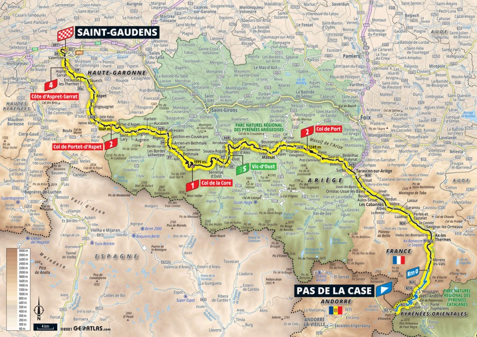 Tour de France 2021 stage 16 profile map