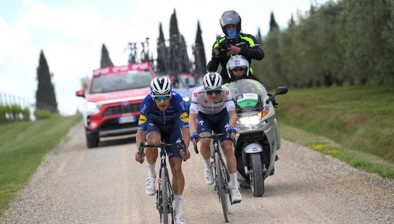 Remco Evenepoel lost time on stage 11 of the Giro d'Italia