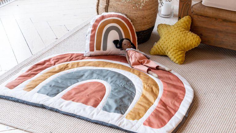 Best soft play equipment: GypsyKidsDesigns Rainbow Nursery Decor Playmat