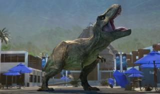 Rexy in Season 2 of Camp Cretaceous.