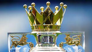 How to watch Premier League 21/22 — Premier League trophy against a blue background