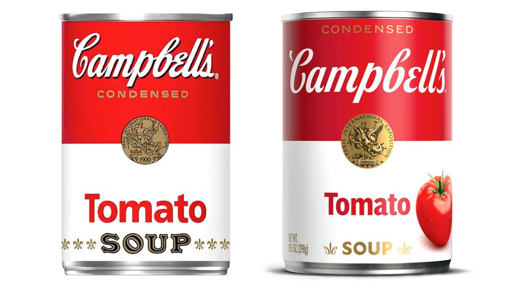 Campbell's soup updates iconic can after 50 years