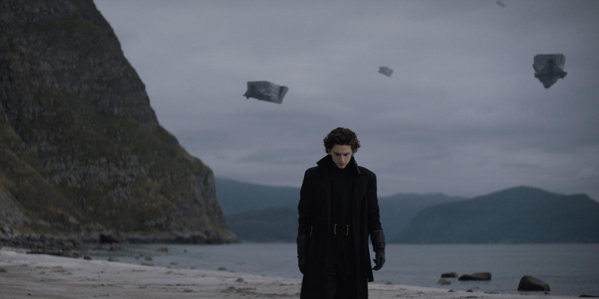 Timothee Chalamet as Paul Atreides on Caladan in Dune