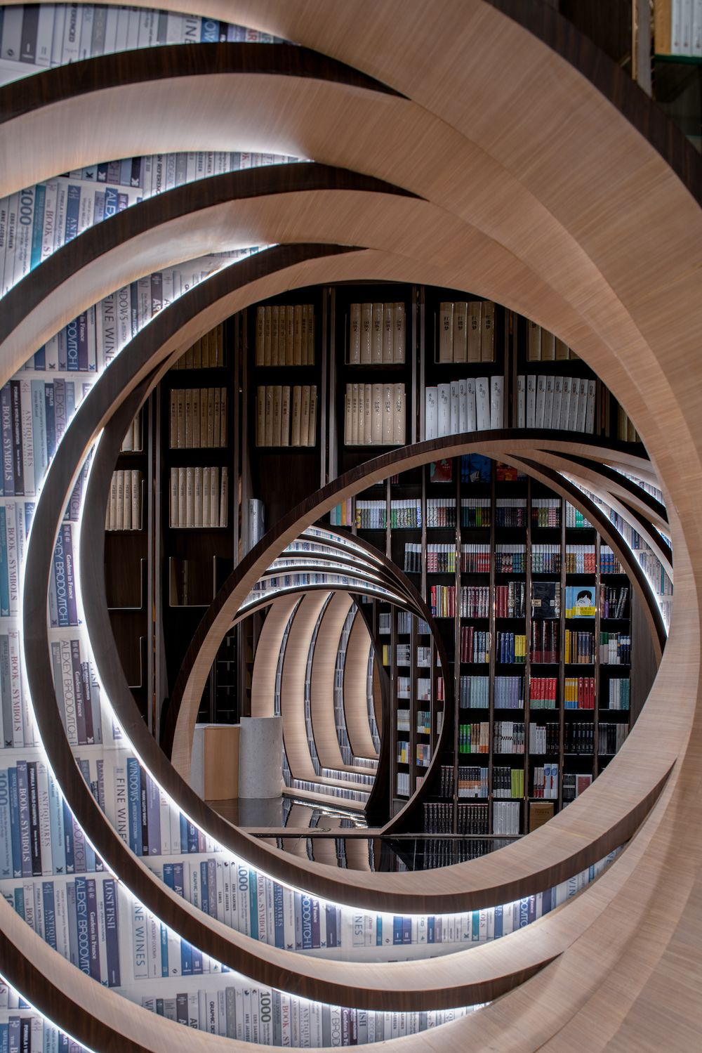 Step inside this surrealist library that offers an escape from reality