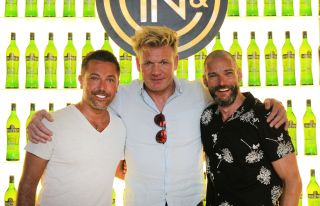 Gino D'Acampo with Gordon and Fred for episode 2