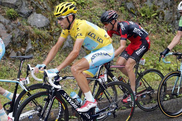 Vincenzo Nibali on stage nine of the 2014 Tour de France