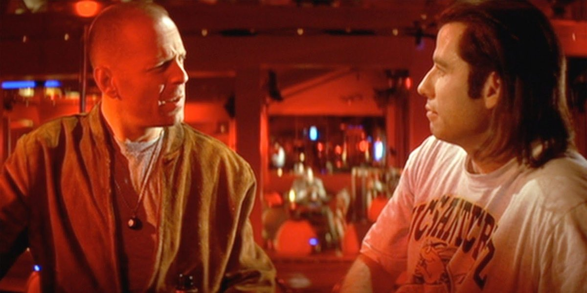 Butch and Vincent Vega in Pulp Fiction