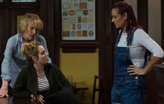 Tina Carter is confronted by a mystery visitor but who is she?
