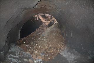 Roman tunnel collapse
