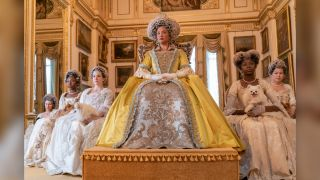 """In the Netflix series, """"Bridgerton,"""" Queen Charlotte (played by Golda Rosheuvel) is a fan of Pomeranian dogs, just like the queen was in real life."""