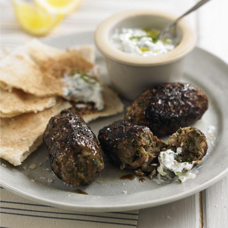 Lamn kofta with home make tzatziki recipe-recipes-recipe ideas-new recipes-woman and home