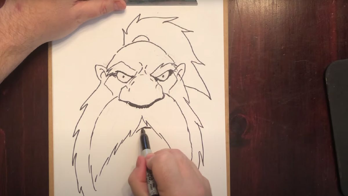 Learn to draw dwarves and orcs from Warcraft's iconic Samwise Didier himself