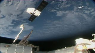 A SpaceX Dragon capsule departs the International Space Station on Jan. 13, 2018 to return 4,100 lbs. (1,860 kilograms) of science gear to Earth and end a monthlong delivery mission.