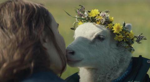 A sweet kiss in 'Lamb.'