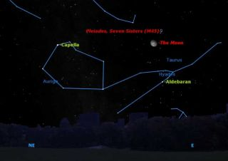 Doorstep Astronomy: The Moon and a Star Cluster