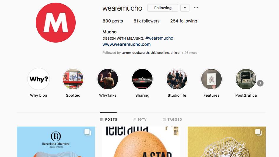 Mucho instagram page