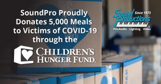 Sound Productions donates 5,000 meals to Sound Productions Donates 5,000 Meals